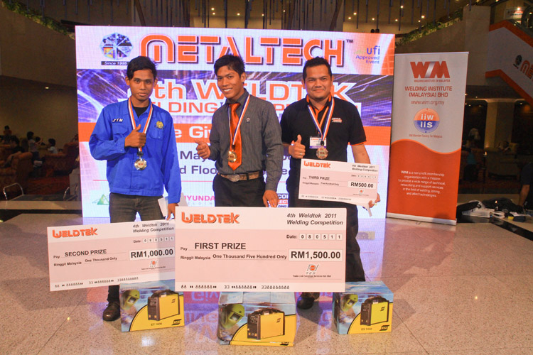 4th Metaltech 2011 Welding Competition winners)